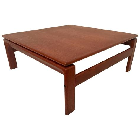 low modern coffee table danish modern teak square low coffee table by komfort for