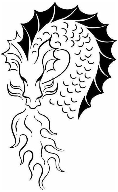 Stencil Dragon Stencils Dragons Painting Coloring Fantasy