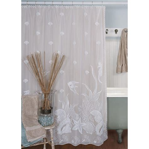 Heritage Lace Seascape Lace Shower Curtain Altmeyer's BedBathHome