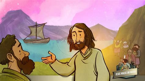 Bible Story Jesus Walks On Water
