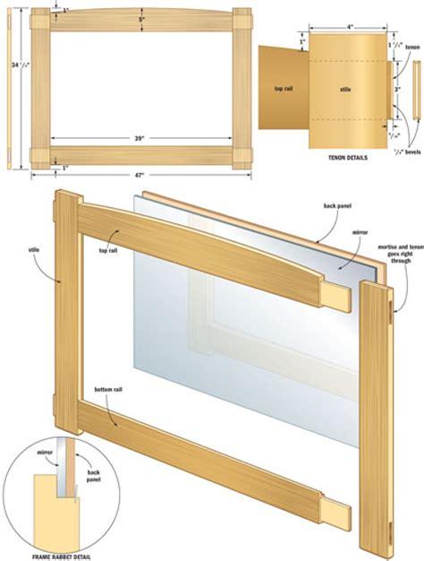 woodworking plans mirror   build  easy diy