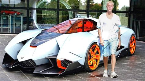 justin bieberin yeni araba koleksiyonu ve oezel jeti youtube