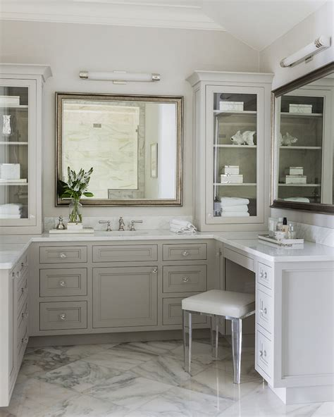 Lucite Vanity Stool  Transitional Bathroom