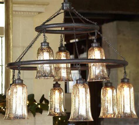 mercury glass chandeliers brantley mercury glass chandelier pottery barn
