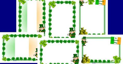 St Patrick's Day A4 Page Borders (sb2002)- Sparklebox
