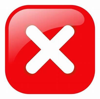 Icon Error Button Warning Clipart Clip Inappropriate