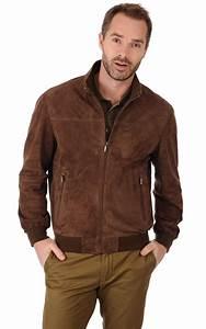 Veste En Daim Homme : blouson cuir velours marron itallo la canadienne ~ Nature-et-papiers.com Idées de Décoration