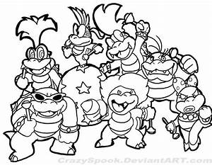 Super Mario Brothers Printable Coloring Pages Coloring Home