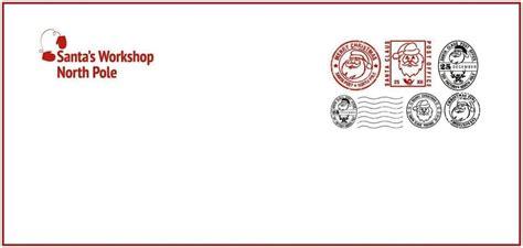 north pole envelope template sampletemplatess
