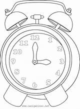 Clock Coloring Pages Printable Labels sketch template
