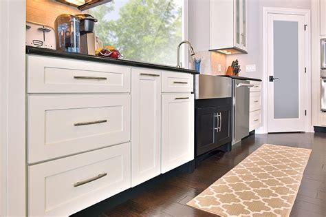 black  white shaker cabinets kitchen remodeling