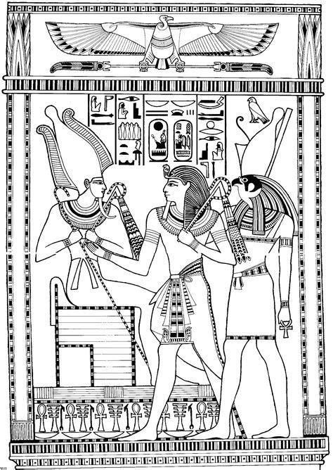 Ancient egypt coloring pages - coloringtop.com | Egyptian Line Art | Ancient egypt art, Egyptian