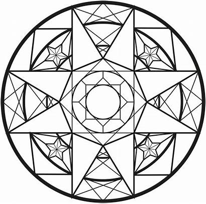 Mandala Coloring Geometric Mandalas Pages Adults Diamond
