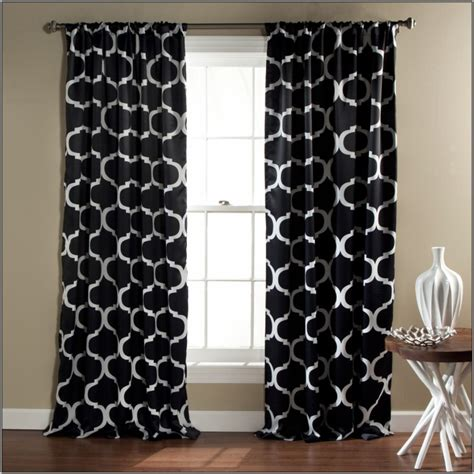 Black And White Drapes At Target - black and white damask curtains target anextweb