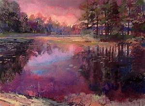Image Gallery nature pastel paintings