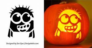 5 Free Best Halloween Minion Pumpkin Carving Stencils  Patterns  Ideas  U0026 Printable Templates For