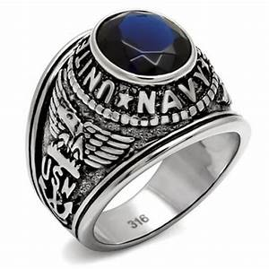 mens stainless steel navy ring With navy wedding rings