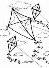 Coloring Kite Wind Kites Flying Printable Sheets Spring Template Crafts Corner Blowing Familycorner Clipart Sheet Preschool Kindergarten Activities Templates Cool sketch template