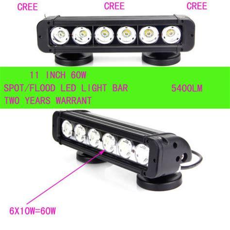 b y11 inch 6x10w 60w cree led work light bar 3600lm spot
