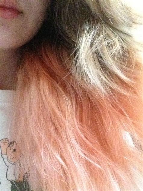 Peach Dip Dye Hair Stuffs Pinterest Peaches