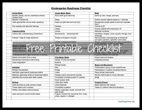 kindergarten checklist on kindergarten 967 | faa373778f74ebecf6855788627aab3a