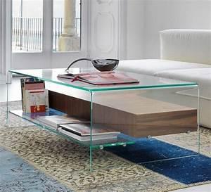 Table Basse Bois Et Verre : table basse de salon en verre et bois table basse et pliante ~ Teatrodelosmanantiales.com Idées de Décoration