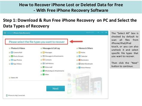 iphone data recovery software best iphone data recovery software in 2016 free iphone