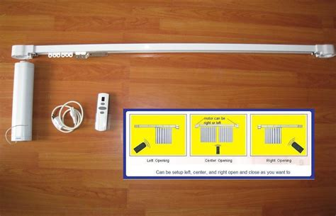 china motorized remote electric curtain rod hd0769