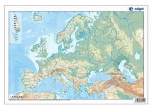 Mapa Fisico Mudo De Europa