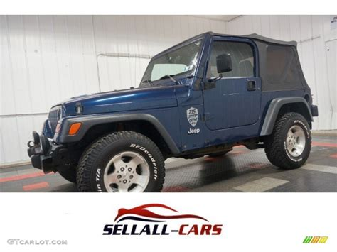 patriot jeep blue 2000 patriot blue pearl jeep wrangler sport 4x4 105750056