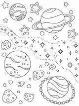 Planets Space Coloring Fantasy Stars Different Deep Nebula Far Planet Nebulae Asteroids Outer sketch template