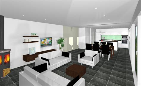 Wohnzimmer Mit Küche Ideen by Kueche Mit Wohnzimmer