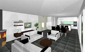 Offene Küche Und Wohnzimmer : wohnzimmer mit kueche amerikanisch raum und m beldesign inspiration ~ Markanthonyermac.com Haus und Dekorationen
