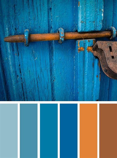 color schemes red cherry blue huesblue  rust color