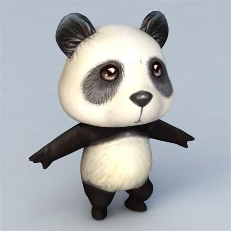 cartoon anime panda  model ds max files