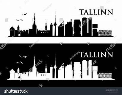Tallinn Skyline Shutterstock Footage Vectors Illustrations