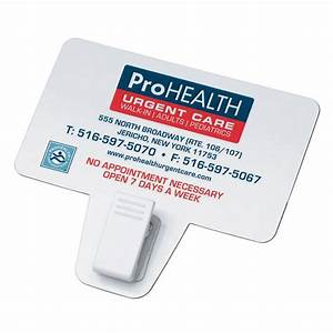 Business card magnet with clip personalization available for Business card clip