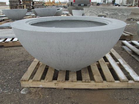 Large Concrete Planter  Woodburning Fire Pit Accent