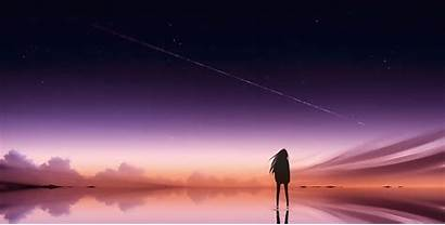 Alone Anime Wallpapers 4k Sky Pink Background