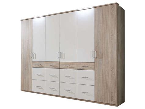 multi table l armoire 6 portes 12 tiroirs smart coloris chêne blanc