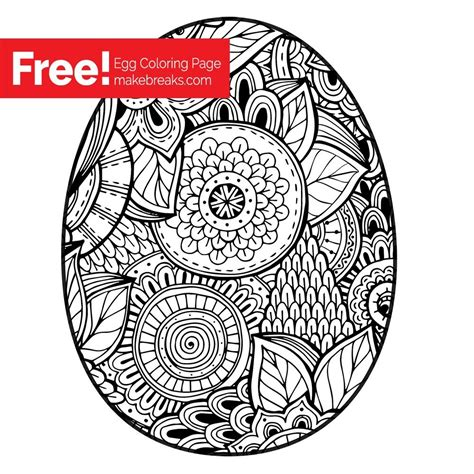 easter egg coloring page  breaks