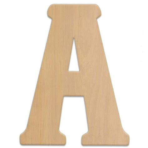 wooden numbers home depot jeff mcwilliams designs 15 in oversized unfinished wood letter a 300304 the home depot