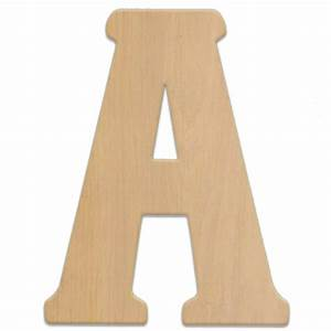 Jeff mcwilliams designs 15 in oversized unfinished wood for Home depot wooden letters