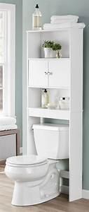 Over, The, Toilet, Bathroom, Storage, Organizer, Spacesaver, Wooden, Towel, Rack, Cabinet