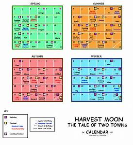 Harvest Moon The Tale Of Two Towns Game Calendar Gif