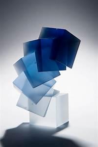 Colour  Form And Light  U2013 Solid Transparent Glass Sculpture