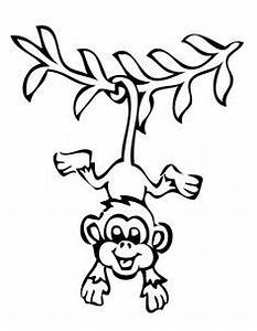 Hanging monkey clipart black and white - Clip Art Library