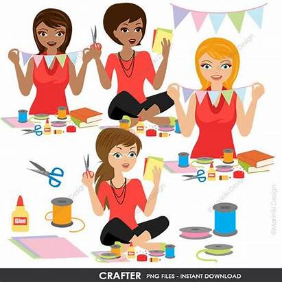 Clipart Woman Clip Crafts Crafter Hobbies Mom