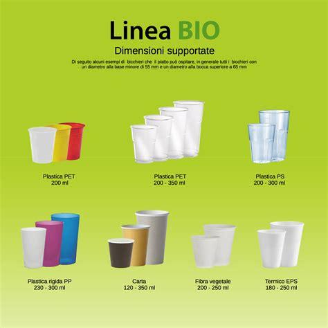 bicchieri di stoviglie compostabili con portabicchiere diglass bio