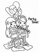 Coloring Strawberry Shortcake Party sketch template